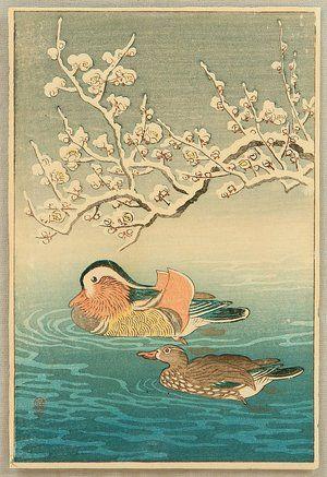 Ohara Koson: Mandarin Ducks - Artelino