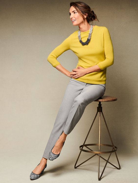 This is the straight-leg you picture when you think classic pants. We craft this timeless shape in a variety of innovative fabrics and sizes for every body (0-24) so each pair feels tailored just for you. Brilliant with a sweater, blazer, or blouse—from day to evening—and everywhere in between. | Talbots Fall 2018