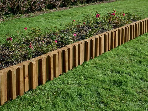 Bordure m tis en pin classe 4 bois durapin all es for Bordures de jardin en bois