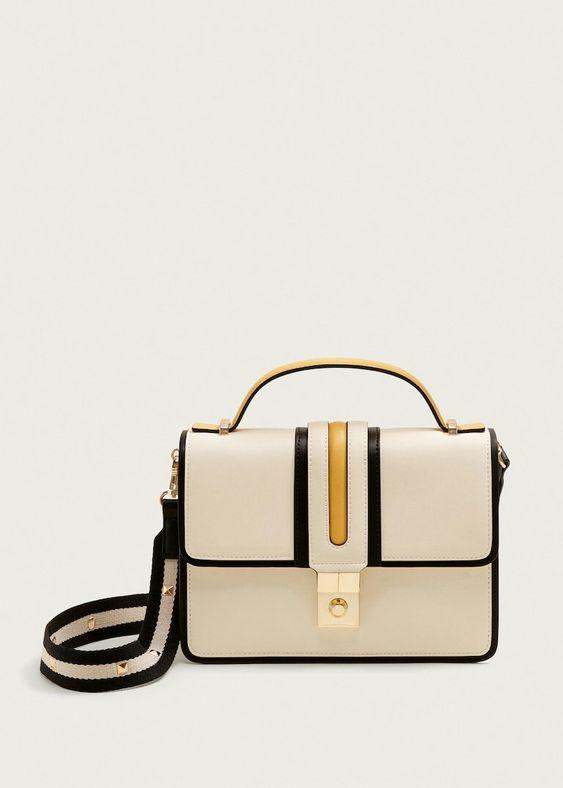 Манго, комбинированная сумка сундучок 4009