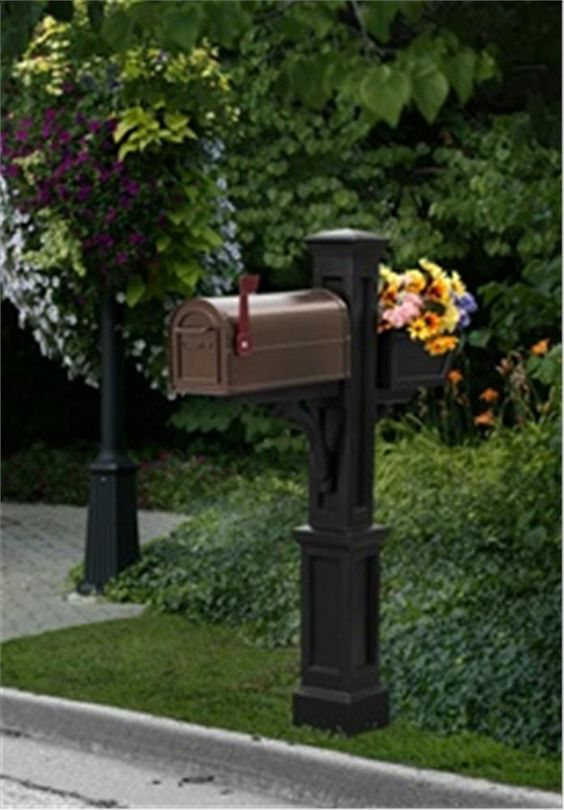 Wooden Mailbox Posts, Westbrook plus Mailbox Post