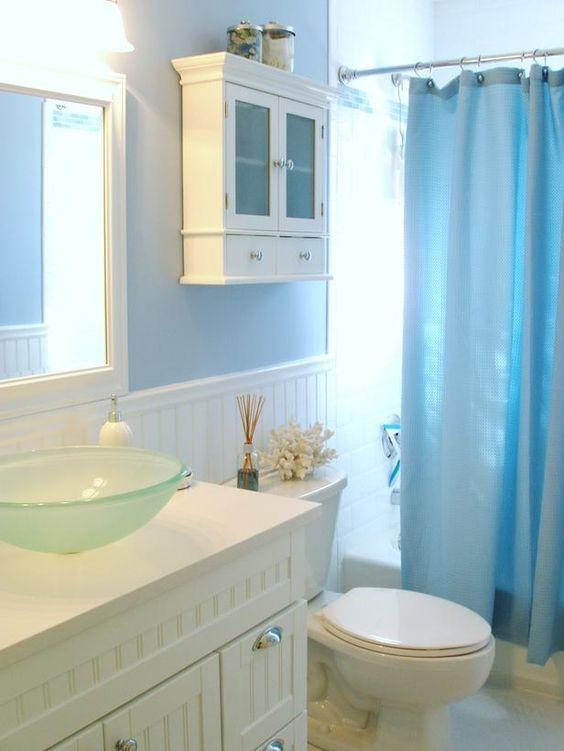 nautical bathroom - white cabinets
