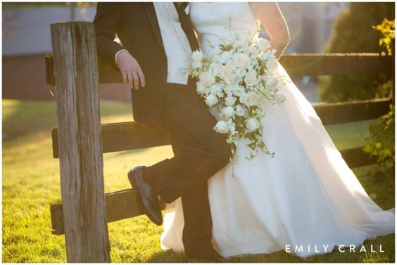 Fall wedding on the family farm - bride & groom photos