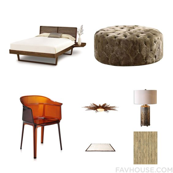 Interior Design Ideas Featuring Copeland Furniture Bed Fabric Ottoman Kartell Chair And Flush Mount Lighting From October 2015 #home #decor