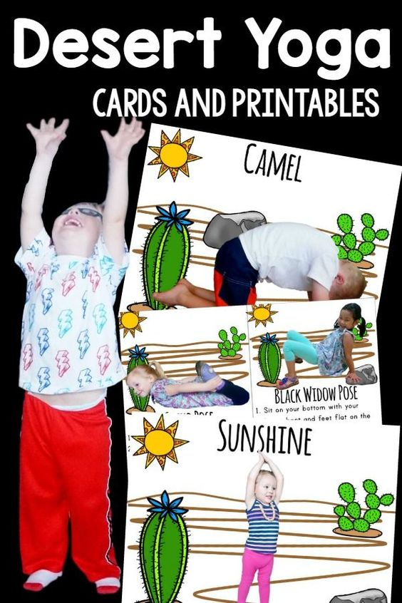 Kids Yoga or Kids Brain Breaks are made more fun with Desert Themed Yoga!