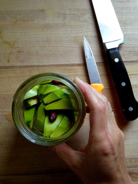 Avocado Pickles Recipe. Easy recipe for making pickling avocados. Pour brine over unripe avocado slices and refrigerate. Lasts up to 2 weeks. Gluten free and vegan. | ¡HOLA! JALAPEÑO