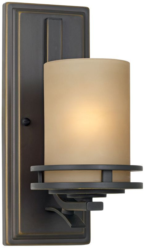 Kichler Hendrik Bronze with Glass 5 1/2-Inch-W Wall Sconce - #EU09218 - Euro Style Lighting