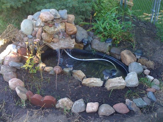 Pinterest the world s catalog of ideas for Waterfall pond liners