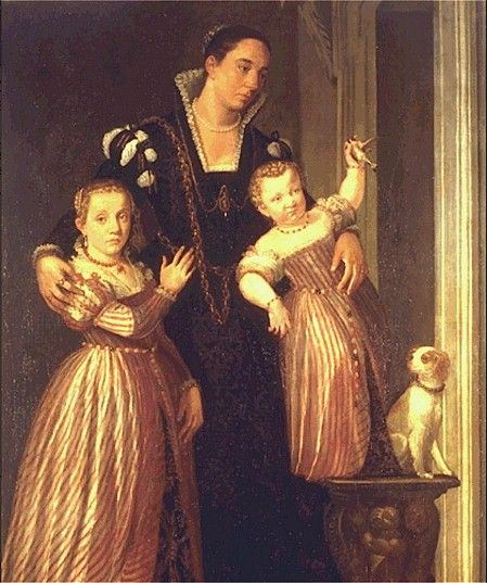 Giovanni Antonio Fasolo, c1560s: Paola Gualdo And Daughters     Vicenza, Museo Civico: