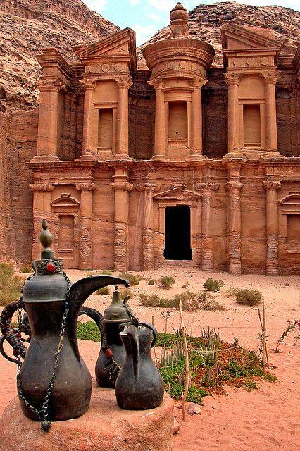 The Monastery (Al Dier) in Petra, Jordan (by archer10).
