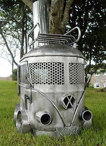Vw Camper Van Log Burner Firepit Stove Patio Garden