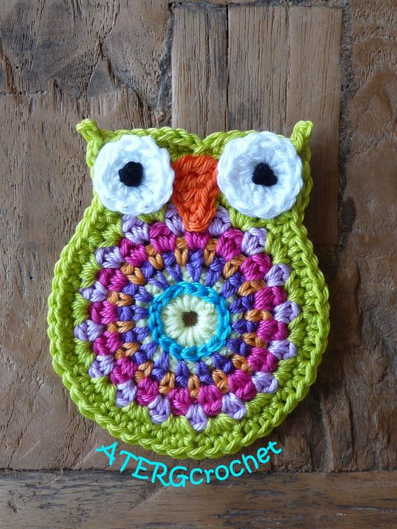 Crochet owl application 'anice' by ATERGcrochet on Etsy