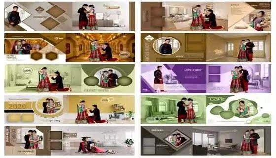 خلفيات زفاف Psd 2020 للمصورين وأصحاب الاستوديوهات قوالب Psd البومات وصور زفاف العرائس جديدة يمك Wedding Album Design Layout Wedding Album Design Wedding Album