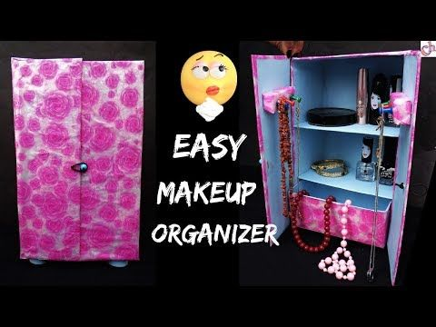 Diy Makeup Organizer Reuse Of Waste Shoe Box Best Out Of Waste