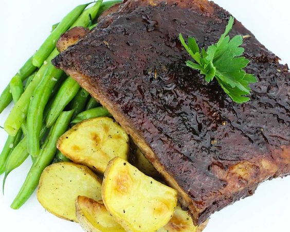Ginger Soy Glazed Baby Back Ribs - Seared baby back ribs braised in a ...