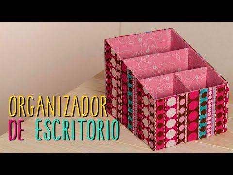 Organizador de Escritorio de Cartón - Regreso a Clases - DIY - Catwalk Cartonaje - YouTube