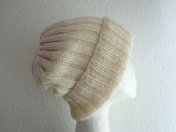 Beaniemützen - Edle Merino Beanie Mütze Boho Style SOFT BLUSH - ein Designerstück von flowerchildflowerchild bei DaWanda