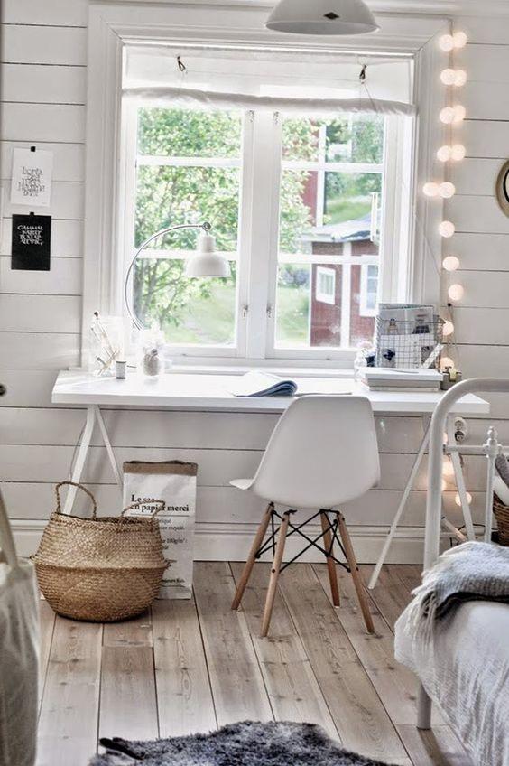 INPIRACIÓN MESAS DE TRABAJO: pequeñas, medianas, para dos... | Decorar tu casa es facilisimo.com