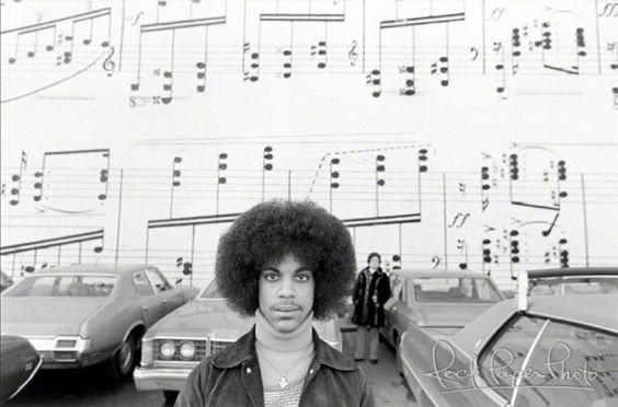 An awesome early photo of Prince!