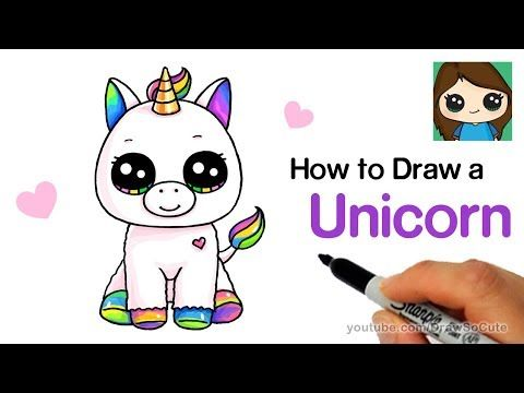 Draw So Cute Unicorn Youtube Unicorn Drawing Cute Drawings Baby Unicorn