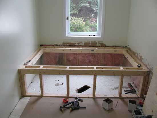 tub surround construction | new home ideas | Pinterest | Tub ...