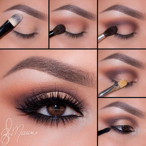 """Ely Marino - Using the Anastasia #Amrezy palette - 1.Apply """"Vanilla"""" onto the brow bone 2.Take """"Morocco"""" and blend well into the crease and slightly above 3. Apply""""Deep Plum"""" to the outer corner of the eyes and sweeping the color in the crease to keep it darkest in the outer corner 4.Take """"Glisten"""" onto a flat Brush and pat on the lid 5.Line the waterline using Covet eyeliner in Noir and smudge out with """"LBD"""" using a bit more """"Morocco"""" blend right underneath """"LBD"""" for a nice gradient effect"""