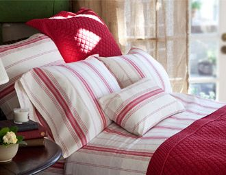 I pinned this from the Taylor Linens - Shabby Chic Bedding & Pillows event at Joss & Main!