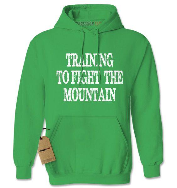 Training To Fight The Mountain GoT Adult Hoodie Sweatshirt