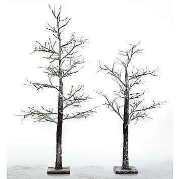 LED Snow Trees