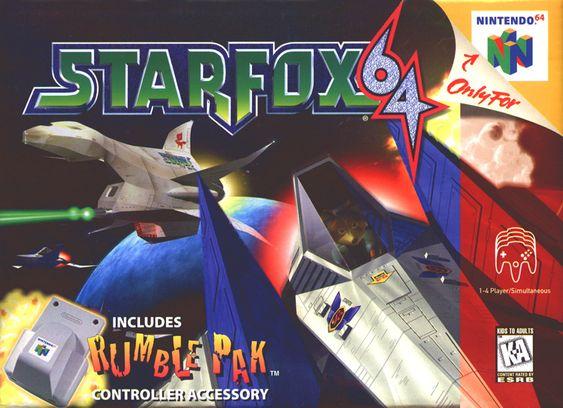 StarFox 64 Nintendo 64 Cover...  hot lamb... childhood. I miss this game.