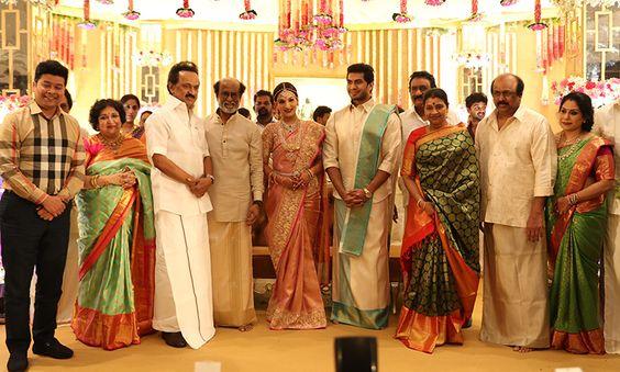 DMK Leader M.K.Stalin At Soundarya Rajinikanth – Vishagan Marriage