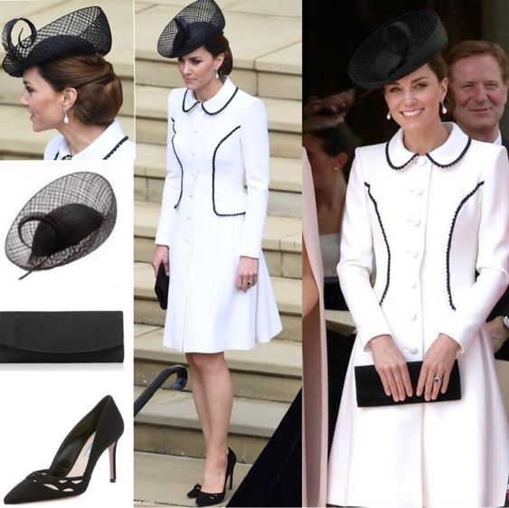 On this year's Order of The Garter, Kate chose to wear Catherine Walker's Liza coatdress. It's similiar with her grey and black coatdress…