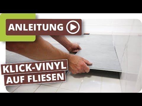Klick Vinyl Auf Fliesen Boden Im Bad Schnell Renovieren Youtube In 2020 Vinyl Fliesen Vinylboden Und Vinyl