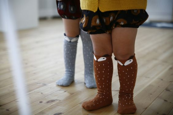 Raccoon Knee Socks | Darling Clementine: