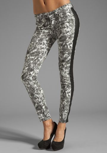 7 FOR ALL MANKIND The Skinny in Pieced Etched Floral - Printed