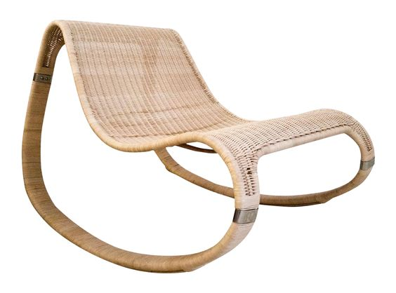 1970 S Woven Rattan Danish Modern Rocking Chair On Chairish Com Danish Modern Rocking Chair Modern Rocker Rocking Chair