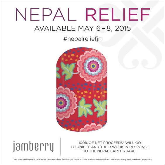 Order your Nepal  Relief Wraps today... 100% of profit goes back to UNICEF!!! I love Jamberry!!!