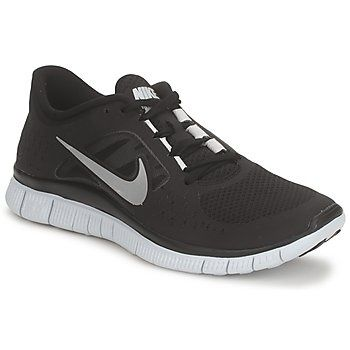 Nike Free Run 3 Black Silver Womens [Hot Sale Nikes 010] - $49.99 :