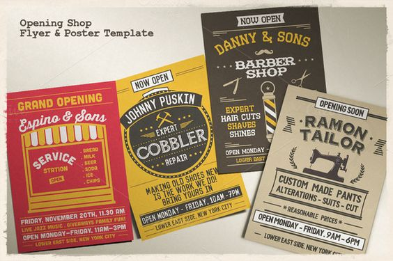 Opening Shop Flyer \ Poster Template - grand opening flyer