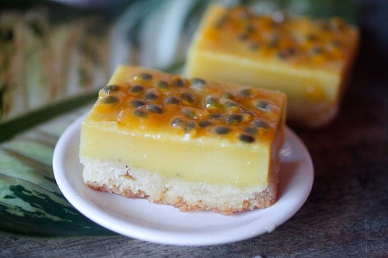 Creamy Passion Fruit Bars --- lovvveeee passion fruit! https ...
