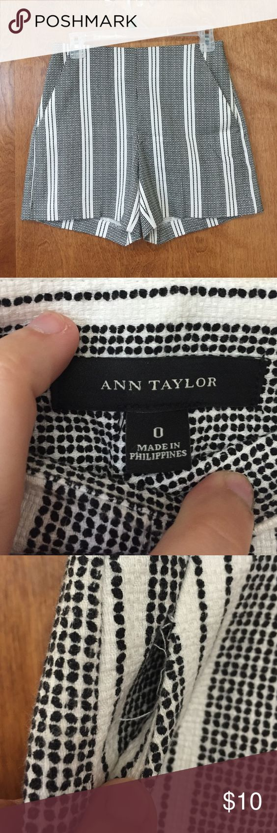Ann Taylor shorts size 0 Gently used Ann Taylor shorts size 0. Has one real pocket and one faux pocket. Faux pocket is coming open (as documented) but could easily be repaired. No other issues. Open to offers. Ann Taylor Shorts