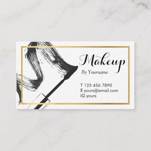 Minimalist Monochrome Makeup Artist Business Card Zazzle Com Makeup Artist Business Cards Makeup Artist Business Artist Business Cards
