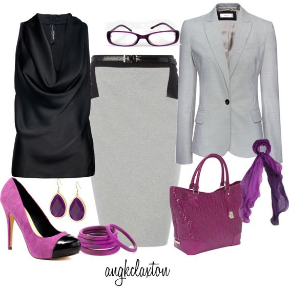 More Fushia Accessories, created by angkclaxton on Polyvore
