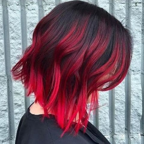 Red Ombre Hair Color For Women In 2020 Hair Color Red Ombre Hair Color Ideas For Brunettes Short Short Ombre Hair