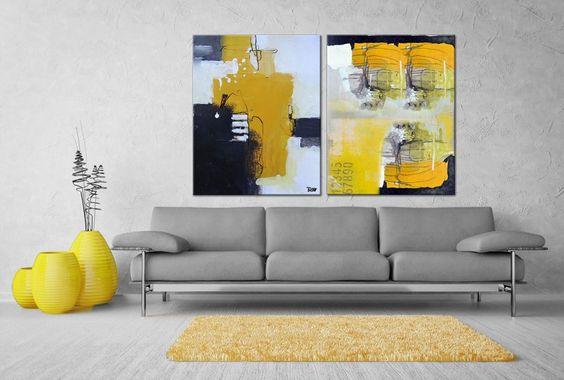 Groot Schilderij Woonkamer : Grote schilderijen