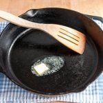 2.Place the skillet over medium heat and add the butter. Let the butter melt completely.