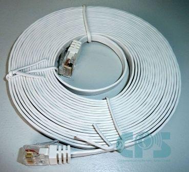 LAN-Kabel CAT6 für OpenStage optiPoint UTP slim-line 5m. weiss NEU