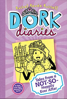 Dork Diaries number 8, as always if you do not wish to read a spoiler alert stop reading this now. In this book, during a PE accident, Nikki Maxwell falls on conscience and in her head goes into a fairy tale world with all her friends and enemies.
