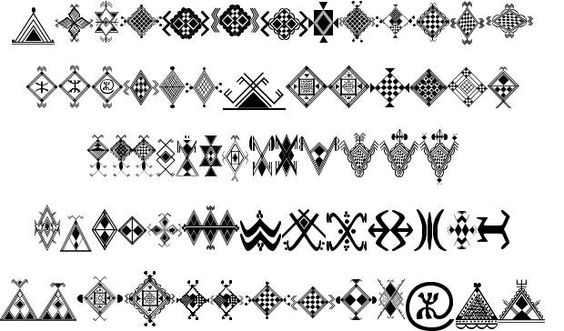 symboles berbere berberblue pinterest motifs et broderie. Black Bedroom Furniture Sets. Home Design Ideas
