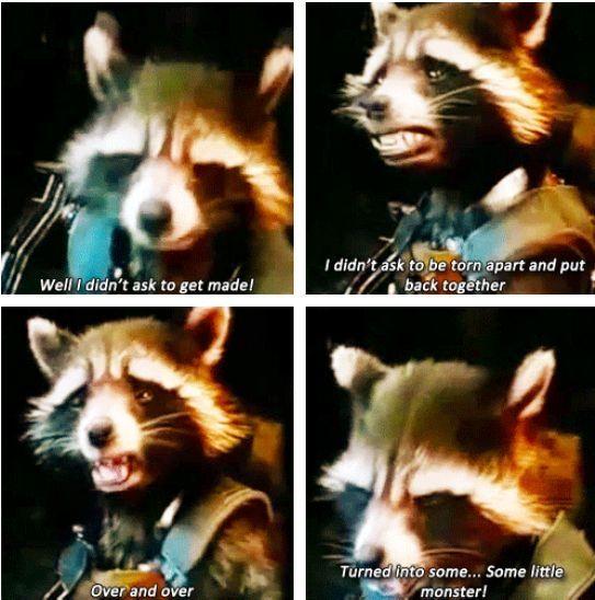 Nooooooo Guardiansofthegalaxy Avengers Guardians Avengers Guardians Of The Galaxy Rocket Raccoon